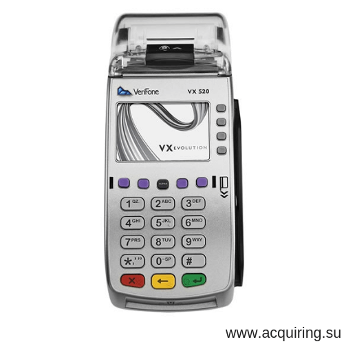 POS-терминал Verifone VX520 Ethernet - локальная сеть, GPRS - СИМ-карта с базовым ПО в СПБ